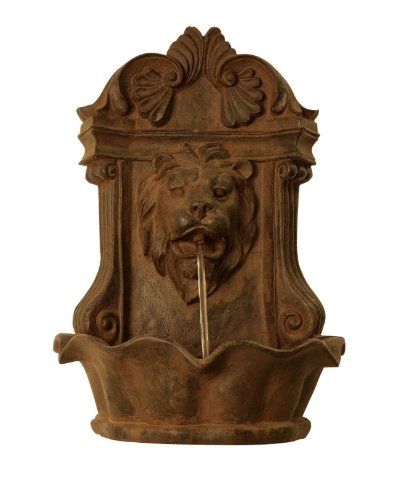 Ambiente Small Lion Head Wall Fountain