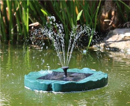 Bermuda Lilypad Floating Solar Fountain Pond Pump