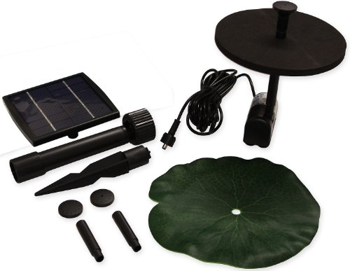 Woodside Solar Power Pond Fountain Submersible Pump Garden Water Feature 150LPH