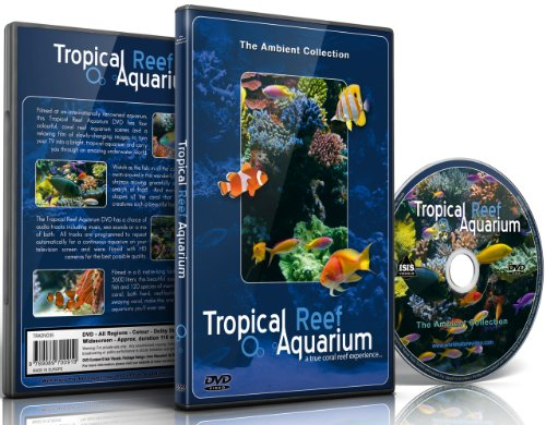 Aquarium DVD – Tropical Reef Aquarium – Filmed In HD – with Natural Sound and Relaxing Music
