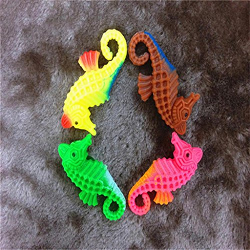 HuntGold 5X Plastic Water Artificial Sea Horse Tank Aquarium Ornament Decor(random color) Reviews
