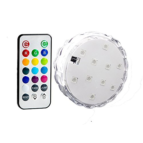 Aome Tech 1 X Multi Color Remote Controlled Submersible Underwater LED Lights for Aquarium, Pond,Wedding,Christmas,Halloween,P arty,Events,etc.