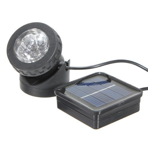 Solar Powered Waterproof Underwater 6 LED Light Lamp Outdoor Pool Pond Spotlight