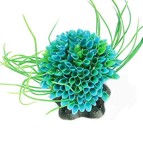 Plastic Green Grass Decor Artificial Water Plant Ornament for Fish Tank Aquarium