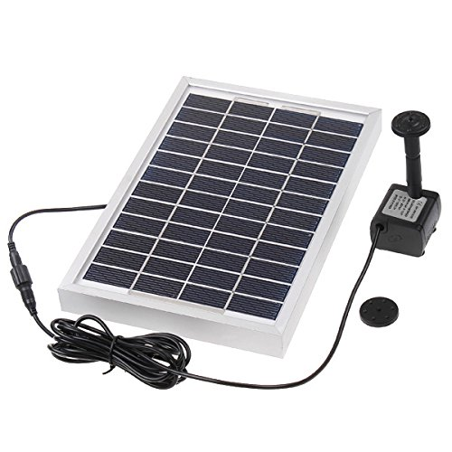 douself Polycrystalline Silicon 12V 5W Solar Brushless Pump Water Cycle/Pond Fountain