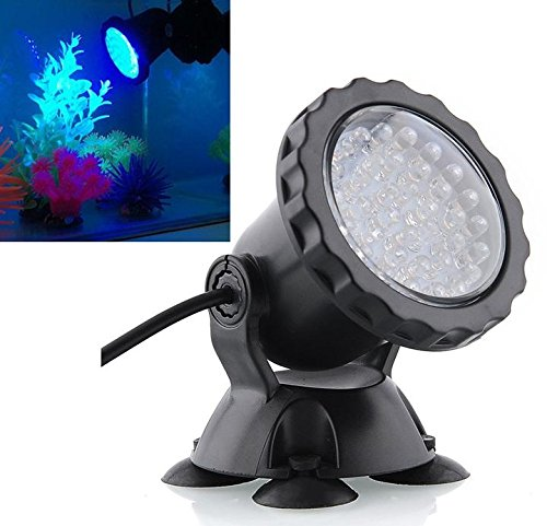 Mingdak® LED Underwater Submersible Spot light Landscape Lamp for Aquarium Fish Tank Garden Fountain Pond Pool,36 LEDS Lights,3 Colors Changing lighting (Set of one)