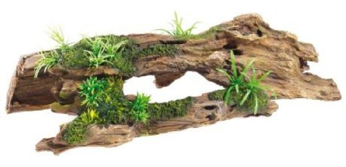 3084 Driftwood & Plants Classic Aquarium Ornament Fish Tank Vivarium Decoration