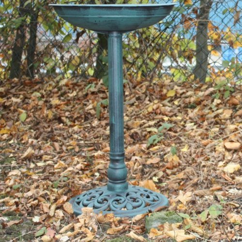 WILD BIRD PEDESTAL BATH – RESIN NEW WEATHERPROOF GARDEN/OUTDOOR WATER