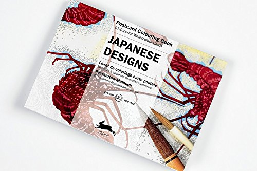 Japanese Designs: Postcard Colouring Book; 20 superior watercolour cards Reviews