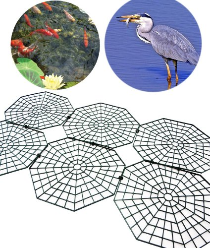 Good Ideas Pack of 30 Black Fish Pond Net Protection Covers (1135) Protect your pond from Herons, Cats and Predators. Reviews
