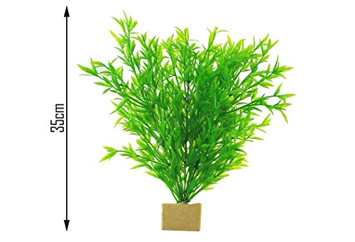 LARGE,QUALITY,REALISTIC ARTIFICIAL AQUARIUM PLANTS,APP 35CM HIGH,UK STOCK FOR FAST DELIVERY!1