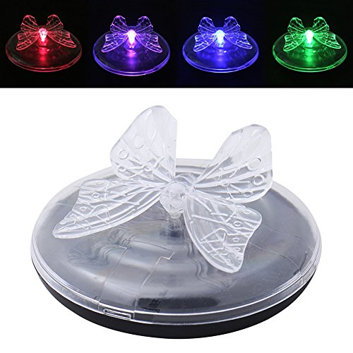 1pcs Colorful Changing Solar Floating Garden Pond Lights Butterfly/Dragonfly