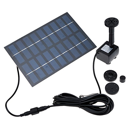 Anself 1.8Watt Solar Power Water Pump Garden Fountain / Submersible Pump For Water Cycle/Pond Fountain/Rockery Fountain Reviews