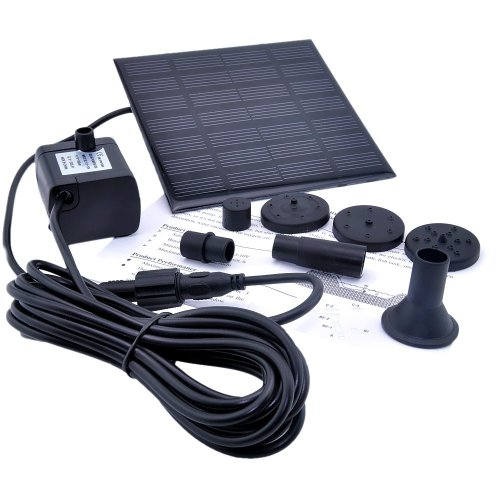 SODIAL(R) 1.2 Watt Solar Power Water Pump Garden Fountain / Submersible Pump with Suckers at the Bottom, Features A Square Solar Panel to Be Staked on the Ground Reviews