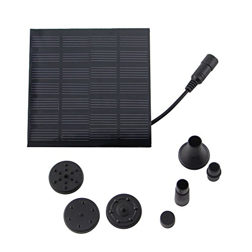 Anself Solar-power Fountain Brushless Pump Energy-saving Plants Watering Kit with Monocrystalline Solar Panel for Bird Bath Garden Pond
