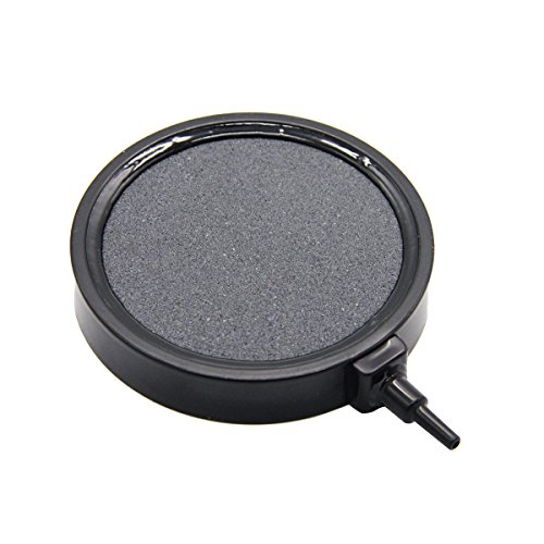 Latinaric Aquarium Fish Tank Pond Air Stone Disk Diffuser Bubble Plate Black Trim Black