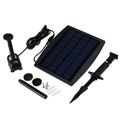 sourcingmap Solar Pump for Garden Pond Plants Fountain Solar-powered Water Pump 2.5W