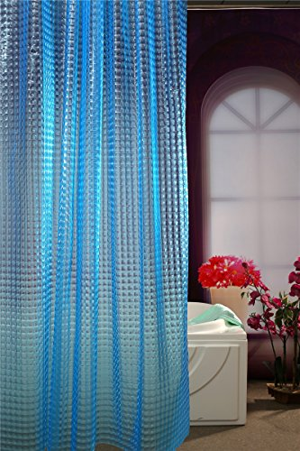 Adwaita 3D Crystal Pattern Mildew Free EVA Bathroom Shower Curtain Liner-Eco Friendly, No Mildew, No Odors, No Chemicals(Blue)