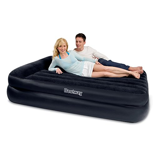 New Bestway Queen Size Premium Flocked Inflatable Comfort Quest Air Bed With Built-in Pillow Built-In Electric Pump 220/240V Travel Bag Heavy Duty Repair Patch Reviews