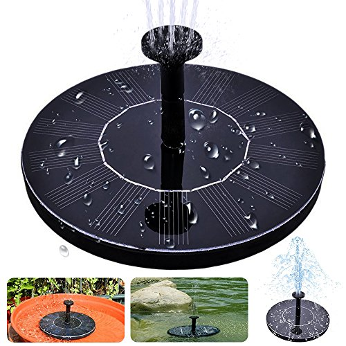 Solar Bird Bath Fountain£¬maxin Free Standing 1.4W Solar Panel Kit Water Pump, Outdoor Watering Submersible Pump for Bird Bath,Fish Tank,Small Pond, Garden Decoration
