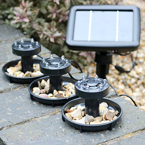 3 Solar Underwater Pond Lights – Submersible LED Lights for Pool Lighting, Garden Pond 1W by PK Green