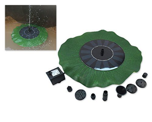 DSstyles Solar Power Fountain Water Pump with Solar Panel, Pond Decoration Outdoor Fountain