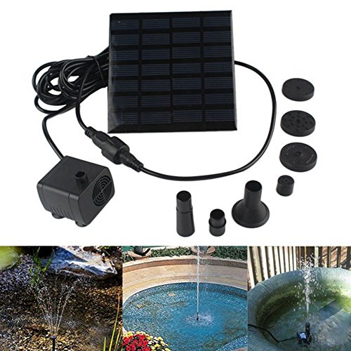 1 4 Watt Solar Power Water Pump Garden Fountain