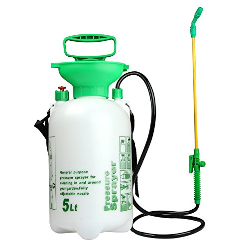 VOXON 5L Pump Action Pressure Sprayer, Garden Knapsack Sprayer
