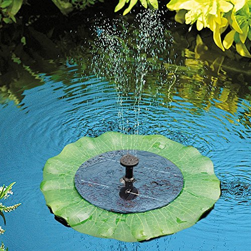Solar powered lily pad outdoor fish pond water fountain for Outside fish pond