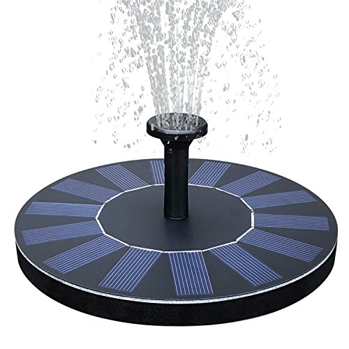 Feelle Solar Power Fountain Pump 1.4W Solar Panel Floating Submersible Water Pump for Bird Bath, Pond, Pool, Rockery Fountain and Garden Decoration