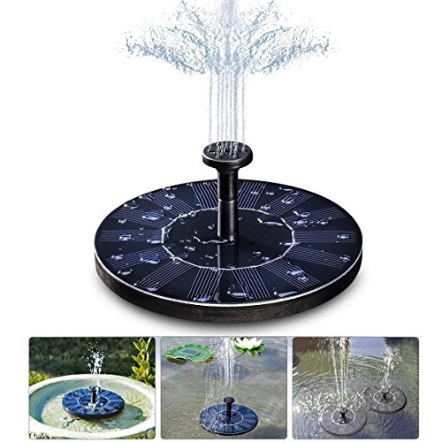 Solar Fountain Pump,GOCHANGE Floating Solar Panel Pond Pump Water Feature Pump / Water Pump Submersible Pump for Pond Pountains Garden Birthbath