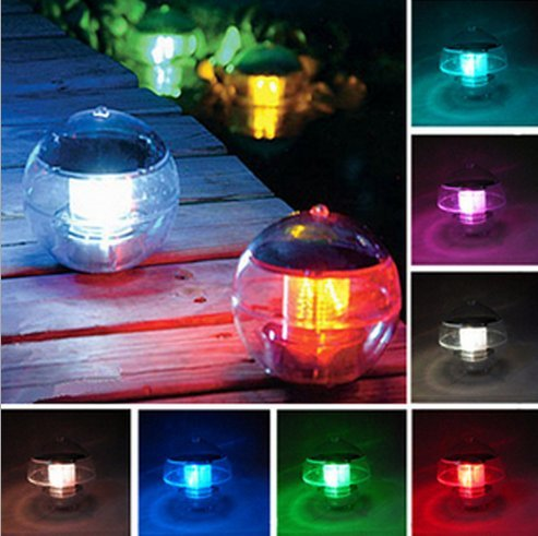 Twshiny Solar Floating Pond Lights,LED Floating Lamp Show Path Landscape Pond Spa Hot Tub Ball Light with 7 Colors Changing