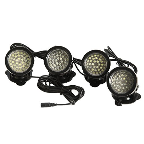 TOOGOO(R) 4x 36-LED/light Bright Spotlight Underwater Submersible for Garden Fountain Pond – White light