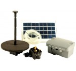 PK Green 1.25m Solar Fountain Pump for Garden with Battery Backup