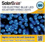 Solar Brite Deluxe BLUE Solar Fairy Lights 120 LED Super Bright Decorative String, choice of light effect. Ideal for Trees, Gardens, Parties & More…