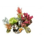 Coral on Rocks with Artificial Plants Tropical or Marine Aquarium Ornament 3134 Reviews