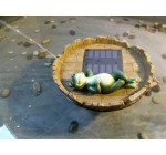 Floating Happy Frog Relaxing Spitter Solar Pond Fountain with Battery Pack