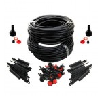 222 PIECE ITEMS WATER IRRIGATION SYSTEM DRIP WATERING GARDEN KIT MASSIVE