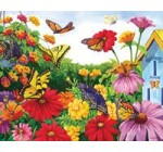 """Butterfly Garden"" 1000 piece puzzle by Sunsout"
