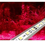 LED AQUARIUM LIGHTS IN RED / ALUMINIUM RIGID BAR / TUBE LIGHT / STRIP LIGHTING ** FULLY WATERPROOF 50CM KIT WITH 30 x 5050 LED CHIPS / EXTREMELY BRIGHT HIGH QUALITY SUBMERSIBLE ITEM – IDEAL FOR TRANSFORMING AQUARIUMS, FISH TANKS, PONDS, ETC **