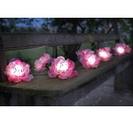 Smart Solar String Lights 10 Pink Roses White LED Reviews