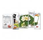 Lotus flower and nine koi fish 3D stamped cross stitch kit – Set of 5 Reviews