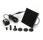 Anself Solar Panel Power Submersible Fountain Pond Water Pum