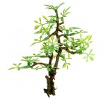 KINGSO Plastic Bonsai Green Tree Aquarium Ornament Fish Tank Underwater Decor Ornament