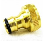 3/4″ BRASS HOSE GARDEN TAP ADAPTER WATER PIPE FITTING SCREW ON HOSE PIPE