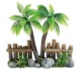 Cocoa Tree and Fence Ornament Suitable For Salt or Fresh Water Aquariums Reviews