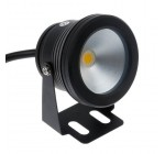 Lemonbest 10W 12V Black Led Underwater Flood Light For Landscape Fountain Pond Pool, Warm White
