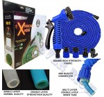 EVER RICH BLUE 100FT EXPANDABLE GARDENHOSE LIGHT WEIGHT NON KINK WATER SPRAY NOZZLE WITH CONNECTORS AND ON/OFF VALVE, STRONG OUTER SIDE WEBING WITH 600X600D FABRIC AND INNER HOSE COMES WITH DURABAL DOUBALE LAYER (BLUE 100FT)