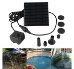 1.4 Watt Solar Power Water Pump Garden Fountain Submersible Pump Garden Plants Watering Kit (1.4W)