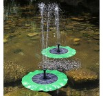 Yunhigh Solar Powered Fountain Pump Floating Water Feature Submersible Water Pump for Bird Bath Ponds Gardens Pool Outdoor Decoration- Lotus Leaf Shaped Reviews